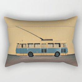 Trolleybus & stars Rectangular Pillow
