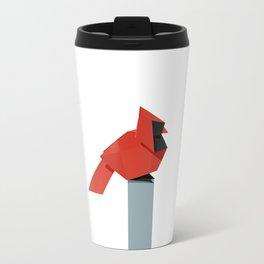 Origami Cardinal Travel Mug