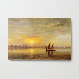 On the James River, Virginia by Edward Lamson Henry Metal Print
