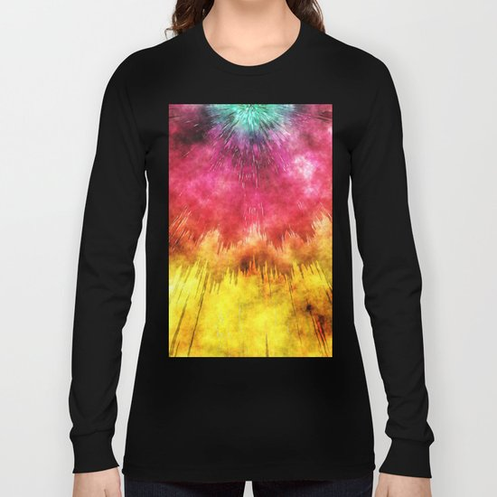 Colorful Textured Tie Dye Long Sleeve T-shirt