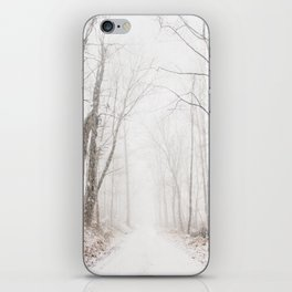 Winter path #photography #society6 iPhone Skin