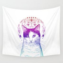 Of cats and insects Wall Tapestry