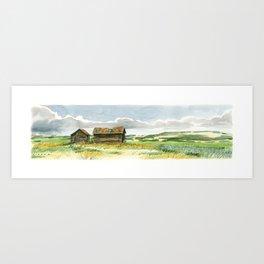 Prairie Buildings Art Print
