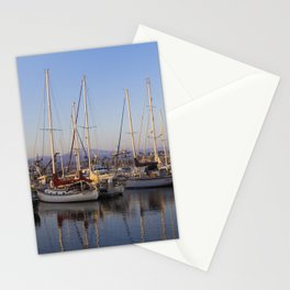 Sail Boats in the Harbor Stationery Cards