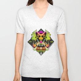 Vape Skull Unisex V-Neck