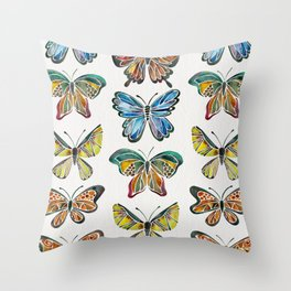Butterfly Specimens Throw Pillow