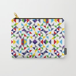 Geometric Pattern Colorful, white background. Good vibes by Cokowo. Carry-All Pouch