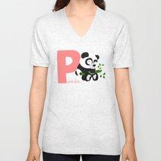 p for panda Unisex V-Neck