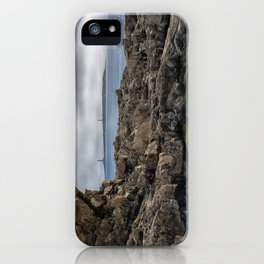 Twin lights cloudy day iPhone Case