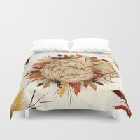 mandie manzano Duvet Covers featuring Night Fall by LouJah