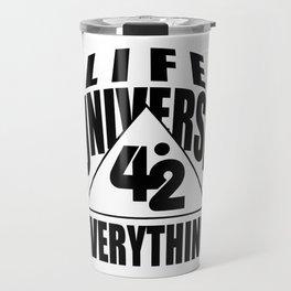 42 answer number time life universe joke gift Travel Mug