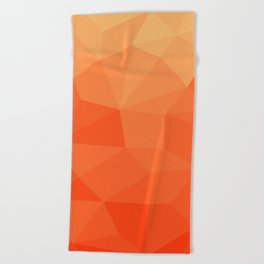 Abstract Geometric Gradient Pattern between Pure Red and very light Orange Beach Towel