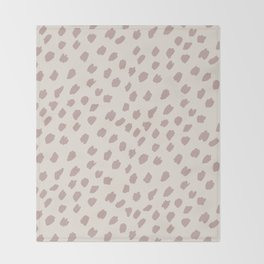 Dotty in dusty pink and cream Throw Blanket