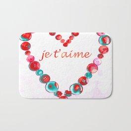 JE T'AIME - I LOVE YOU - VALENTINE Bath Mat