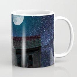Abandoned House Beneath A Full Moon Coffee Mug