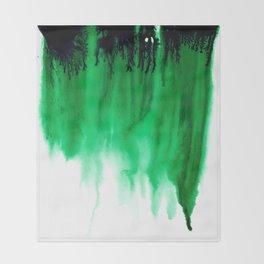 Emerald Bleed Throw Blanket