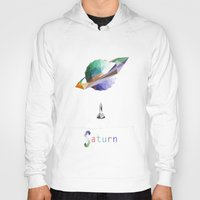 saturn Hoodies featuring Saturn by Tony Vazquez
