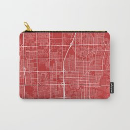 Fort Lauderdale Map, USA - Red Carry-All Pouch