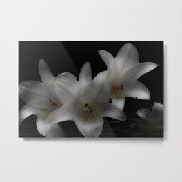 Easter Lilies Metal Print