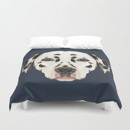 Dalmatian // Navy Duvet Cover