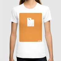 utah T-shirts featuring Utah Minimalist Vintage Map by Finlay McNevin