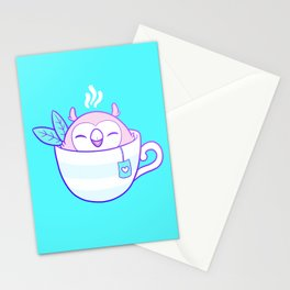Owl Tea Stationery Cards