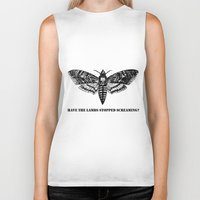 silence of the lambs Biker Tanks featuring The lambs by Nightwatcher