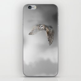 flying owl (tyto alba) iPhone Skin