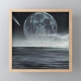 oceans of tranquility Framed Mini Art Print