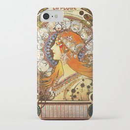 Alphonse Mucha La Plume Zodiac iPhone Case