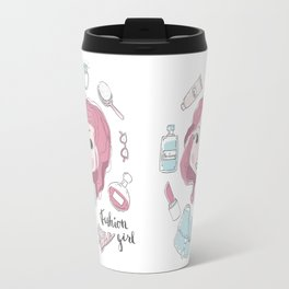 Cute stylish girl portrait Travel Mug