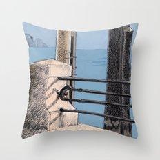 Baveno Dock, Northern Italy Throw Pillow