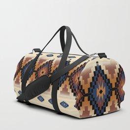 southwest vintage beige stripe Duffle Bag