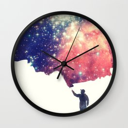 Painting the universe (Colorful Negative Space Art) Wall Clock