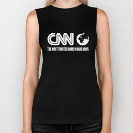 CNN Fake News Network Funny Tabloid Lying Corrupt Liberal Media Trump  trump Biker Tank