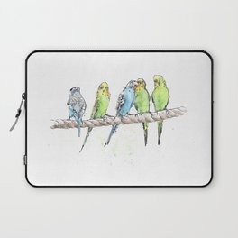 A Row of Budgerigars! Laptop Sleeve