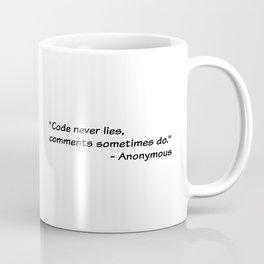Code never lies Coffee Mug
