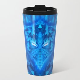 Deep Ice Blue - Sub Zero Transformers Wolf Mask Portait  Travel Mug
