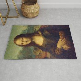 Mona Lisa by Leonardo da Vinci Rug