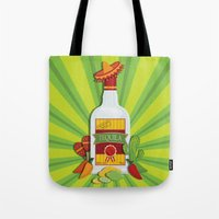 tequila Tote Bags featuring Tequila Time by Matt Andrews