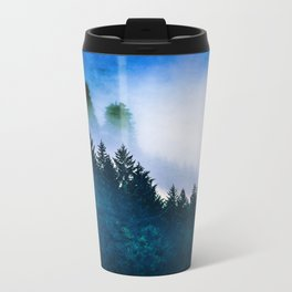 Winter Blues Metal Travel Mug