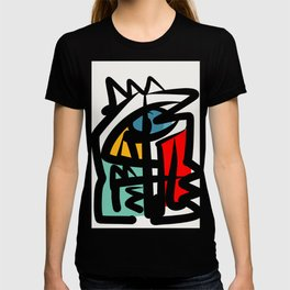 Street art abstract portrait pop T-shirt