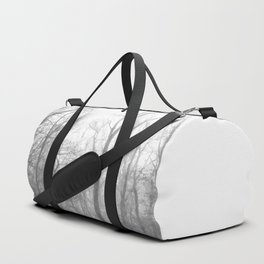 Black and White Forest Illustration Duffle Bag