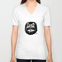 racoon V-neck T-shirts featuring Racoon by leart