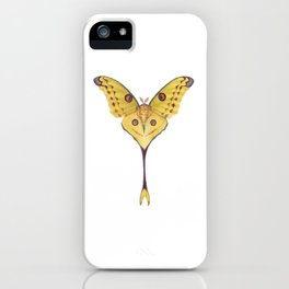 Comet moth (Argema mittrei) iPhone Case