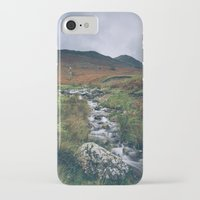 cassia beck iPhone & iPod Cases featuring Cinnerdale Beck with Whiteless Pike beyond. Lake District, UK. by liamgrantfoto