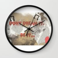 rocky horror Wall Clocks featuring Rocky Horror - Don't Dream It... by Mel (life_like_disney)