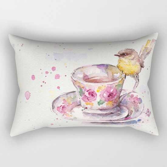 There is always time for tea Rectangular Pillow