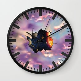 Abstract Worlds Wall Clock