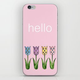 Tulip Row iPhone Skin